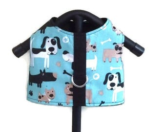 Dog Harness Vest, Boy Dog Clothes, Dog Harness, Small Dog Harness, Male Dog Vest, Blue Harness Vest, Blue Dog Harness, Dog Clothes