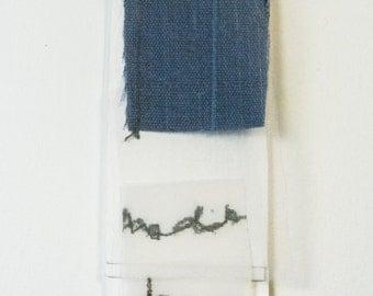 Fibre art/textile art/mixed media, bookmark - Fragments-Free shipping to Canada and USA!
