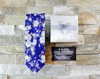 Floral tie. Flower Tie. Skinny Tie. Floral necktie. Necktie. Tie. Wedding Gift. Gift for him Wedding Tie Cotton tie. Groomsmen Tie. Mens tie