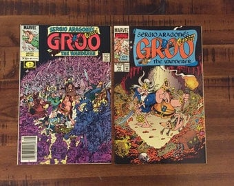 1985-93 Groo The Wanderer #3 and #100 Comic Books/ Sergio Aragones/ Marvel Comics/ NM-VF/ J/ Choose One or Both for a Discounted Price!