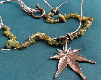 Hemp leaf Yerba - necklace