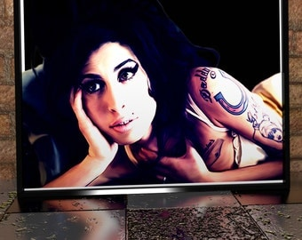 Amy Winehouse - Digital Painting - Digital Illustration - Amy Winehouse Poster - Amy Winehouse Painting - Music Art - Music Poster - Amy