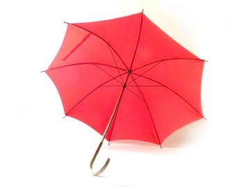 Retro Red Umbrella