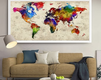 Push pin world travel map push pin travel map world map gift push pin world map travel push pin map gifts for him gumiabroncs Gallery