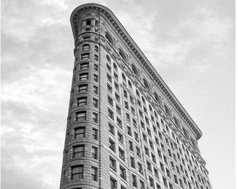 New York City photography, Black and white, 8 x 10, New York picture, flatiron building, nyc print,  New York wall art, New York City