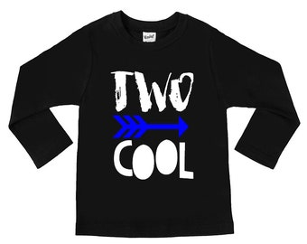 Two Cool - 2nd Birthday Shirts - TWO - Two year old - Unisex Kids Shirts - Birthday Boy - Birthday Girl - I am Two cool - toddler Shirts