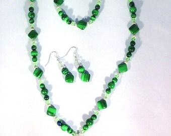 Necklace Set Malachite