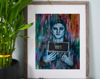 Iconic Elvis Presley Army Mugshot, Art Prints, Posters, Abstract Art, Psychedelic Art, Colorful Artwork, Wall Art, Home Decor, Room Decor