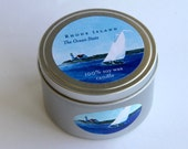 Rhode Island The Ocean State Candle Tin Scented 100% Soy Wax Candle