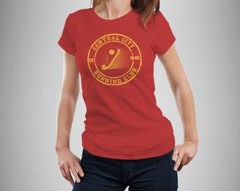 """The Flash Inspired """"Central City Running Club"""" Women's T-Shirt"""