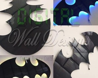 Remote Controlled LED Classic batman Wall art kids childrens nightlight