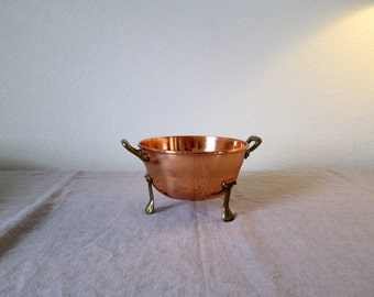 Copper and Brass Small Strainer / Colander / Strainer / Kitchen / Cooking / House Warming