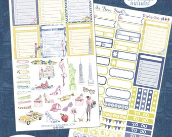 In New York  Planner Stickers