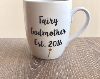 Fairy Godmother Mug, Disney Mug, Pregnancy Announcement Mug, Cinderella Mug, Aunt Mug