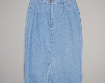 Vintage Long Denim Skirt