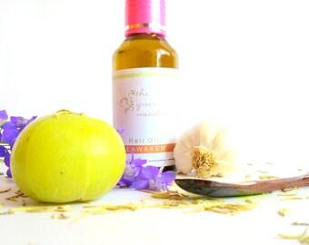 3.4 Oz Reawaken Ayurvedic Herbal Hair Oil Coconut Oil Olive Oil Amla Brahmi Neem Hibiscus, Rosemary, Lavender, Pre Poo