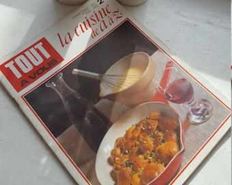 Vintage French Cooking Magazine / 1970's / Kitchenalia