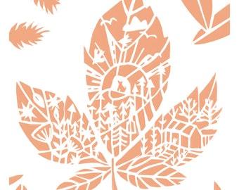 Little Horse Chestnut Leaf - Little Leaf Series - Woodland - Art Print - Home decor - Nature