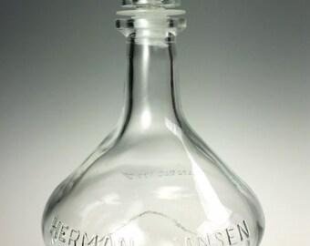 Herman Jansen Anno 1777 Liquor Decanter Glass Bottle 1970s Fifth Holland