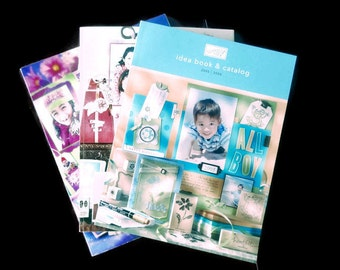 Stampin UP Catalog 2003-2004, 2004-2005, 2005-2006, Idea Book &n Catalog, Full Size, Stamping Book, Ideas,
