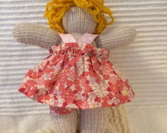 "Curly: Little Waldorf Doll with Clothes 6.5"" high"