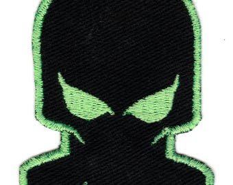 Skull Gas Mask Embroidered Iron-on Patch