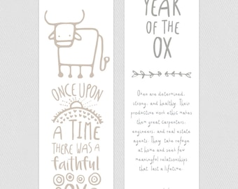 Bookmark - Year of the Ox