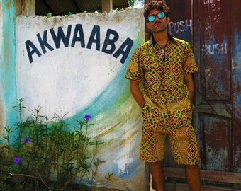 Mr Jamaica Shorts // Mens Shorts // African print shorts // Kente cloth // Hippie Shorts // Festival // Ethical // African clothing