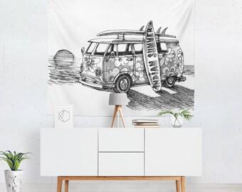 Surf Tapestry | Surf Wall Tapestry | Surf Wall Décor | Surf Tapestries | Surf Wall Art | Surf Art | Surf Décor
