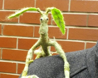 Bowtruckle. Fantastic beasts inspired,needle felted sculpture.made to order