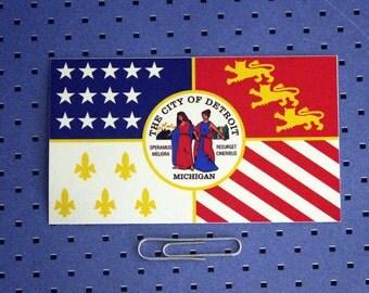 City of Detroit Flag Sticker