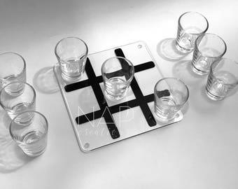 Tic Tac Toe Shot Glass Game