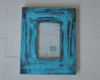 Shabby Chic vintage hand painted & distressed frame