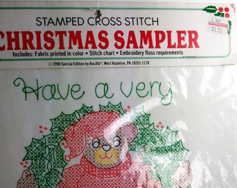 "Christmas Sampler/""Have A Very Beary Xmas""/ Instruction On Back"