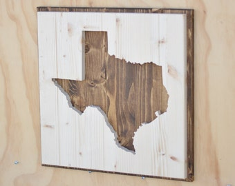 Texas State Wood Plaque Silhouette