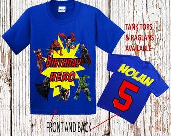 Superhero Birthday Shirt - Avengers Birthday Shirt