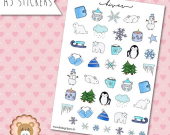 """Planners Stickers """"Winter"""""""