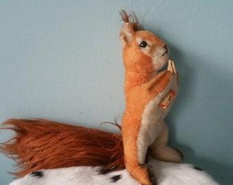 STEIFF squirrel Eich! Cute cuddly vintage toy quality plush collectors item 1968-1974