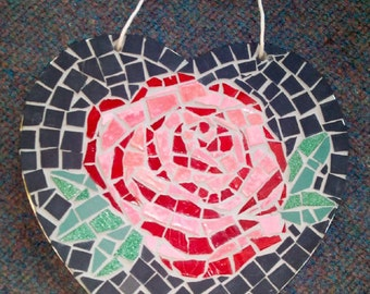 Heart with Rose Mosaic