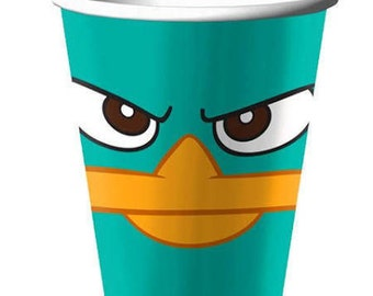 Phineas and Ferb ''Agent P'' Paper Cups 8ct