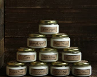 Soy Candle - Delicious Scents Natural Scented Candle Organic Soy Wax - 6 oz.