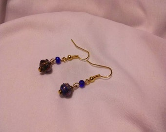 Chinese Eye Glass Earrings