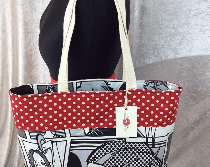 Cartoon Manga Day Bag Tote bag Handmade in England