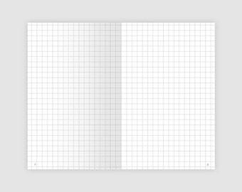 Bullet Journal Field Notes, Pocket Size, Grid, Blank, Dot Grid, Lined, 100 Pages - Printable Insert Traveler's Notebook - FNBUJO-001