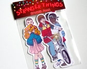Stranger Things Sticker Pack - 5 Sticker Set Mike/Eleven/Lucas/Dustin/Will