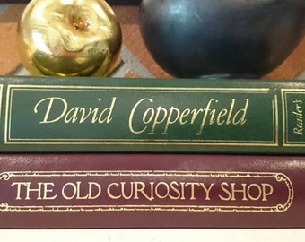 Collection of two Reader's Digest books/ David Copperfield The Old Curiosity Shop Charles Dickens/ Decorative Books/ Wedding Decor