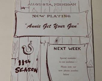 Barn Theatre - Annie Get Your Gun - Augusta, Michigan 1956