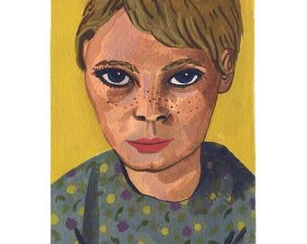 Mia Farrow Print