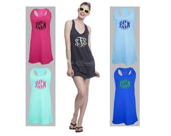 Monogram Swim Coverup - Bathing Suit Cover Up - Swimsuit CoverUp - Monogrammed Dress - Monogram Dress - Monogram Swimsuit Cover Up - Chest