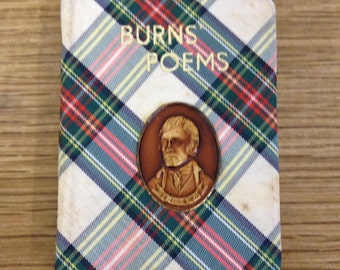 Burns Poems. Small Tartan Covered Book By Robert Burns. In Very Good Condition